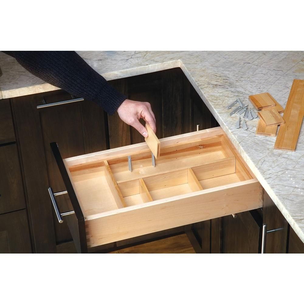 D Small Adjustable Wood Drawer Organizer Kit