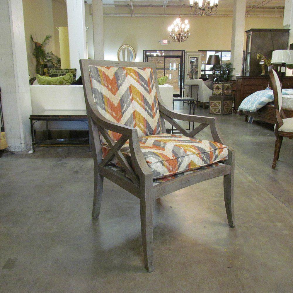 Century Furniture Gustav X Back Chair in Slate Gray