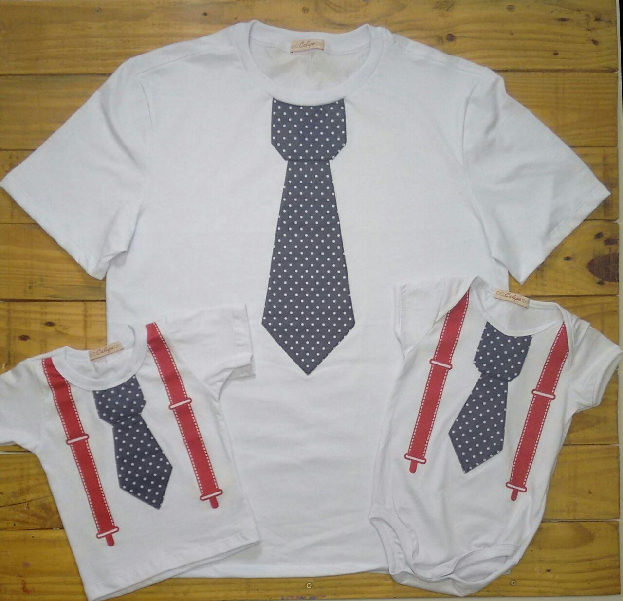 T-shirt gravata tal pai e tal filho! #talpaietalfilho #paidemenino #paiefilho #calupa #tshirt