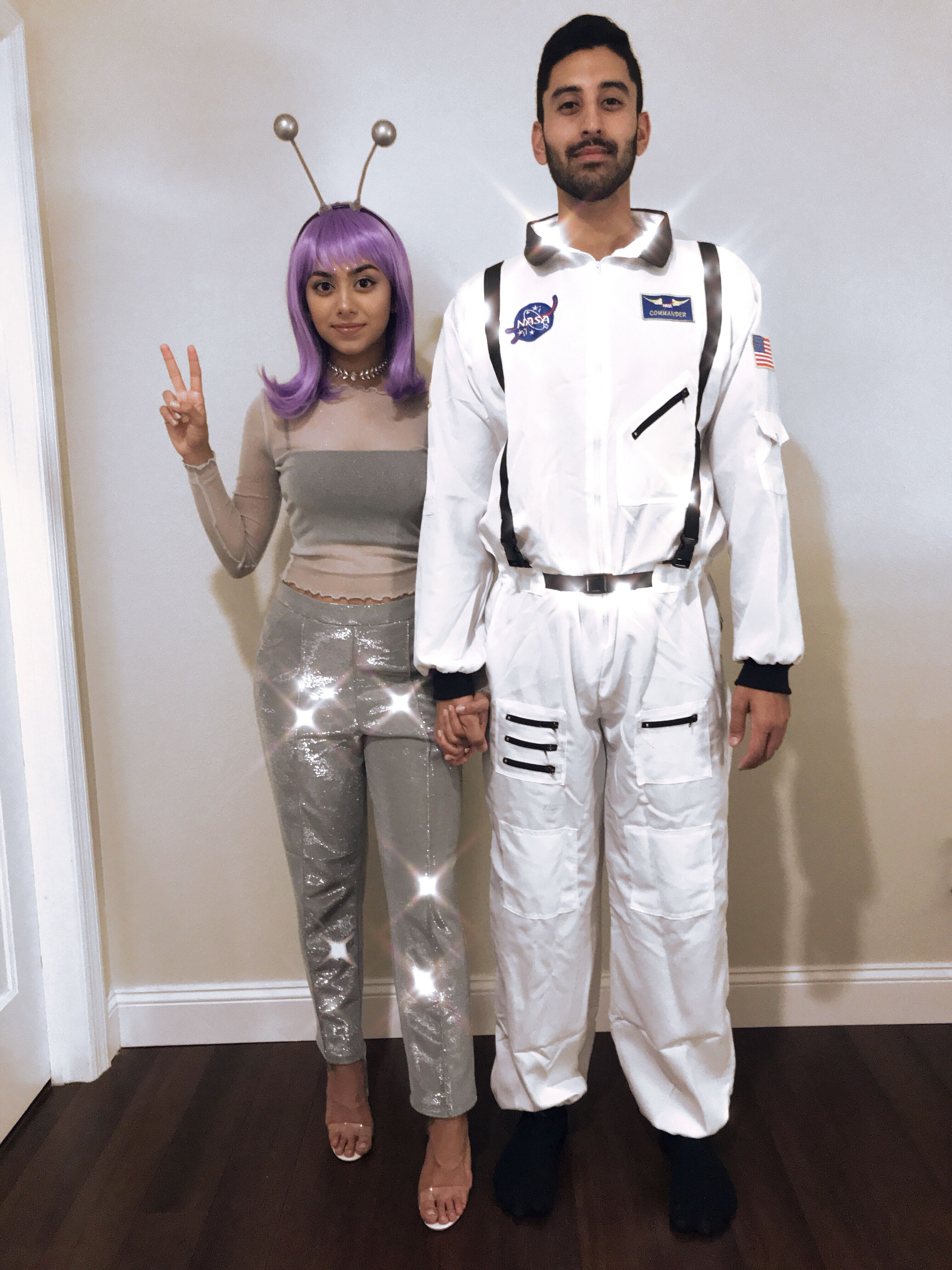 Alien and Astronaut couple costume Halloween nasa   Couple ...