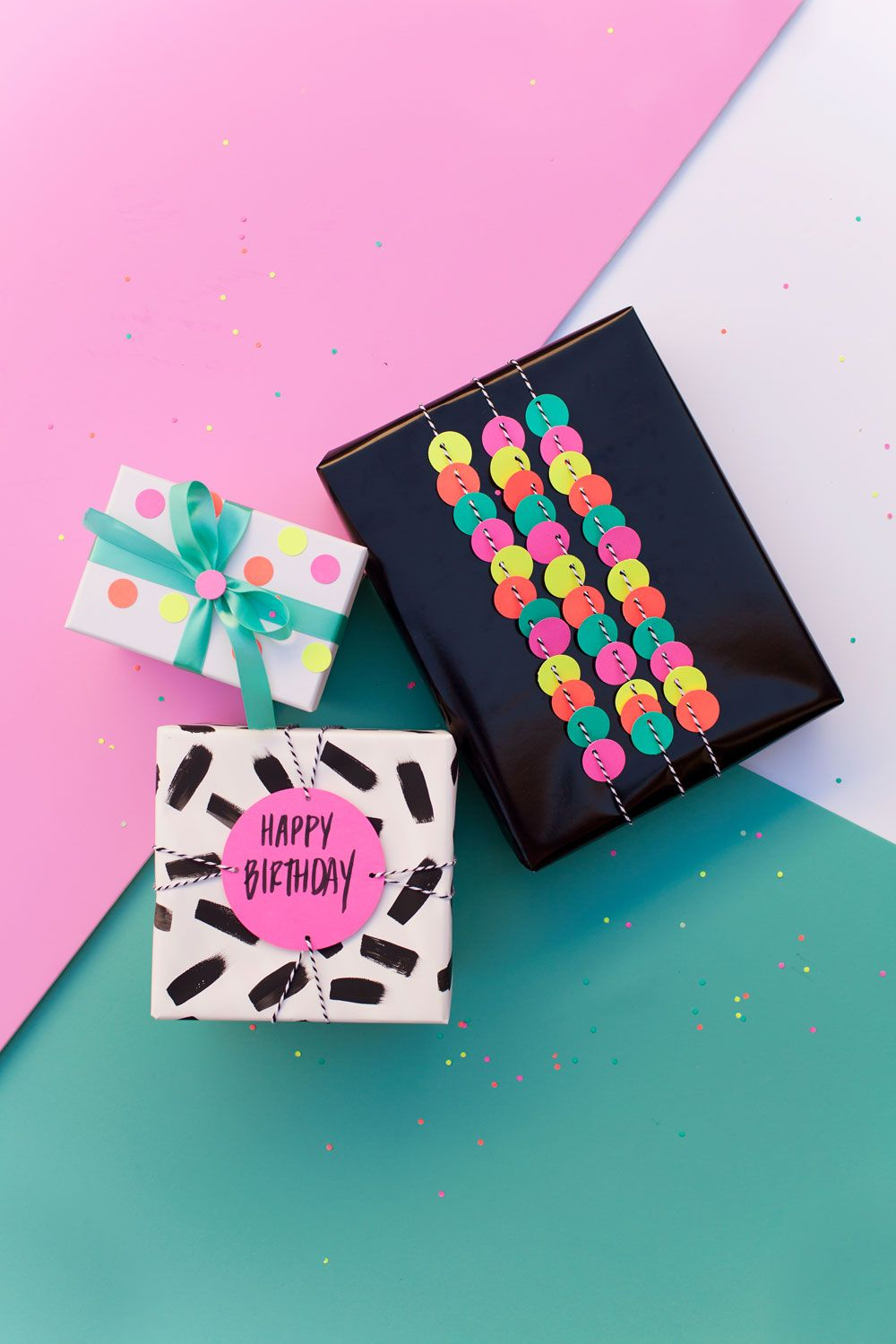 Fun gift wrap ideas using a hole punch circle punch wrapped gifts fun gift wrap ideas using a hole punch negle Gallery