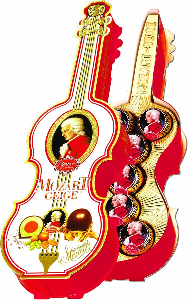 Amazon.com : Reber Mozart Kugeln in Violin Gift Box, 4.9 Ounce : Gourmet Chocolate Gifts : Grocery & Gourmet Food