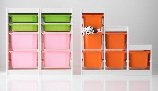 Soluzioni per l'organizzazione TROFAST con strutture e contenitori in plastica - IKEA