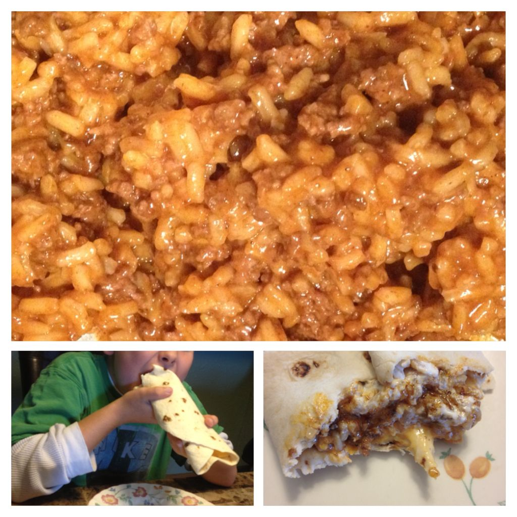 Homemade Hamburger Helper Cheesy Enchilada My Son S Favorite Burrito Style 1 Ground Beef 2 Cups Chicken Broth 1 Can 15oz Mild Red Enchilada Sauce 1