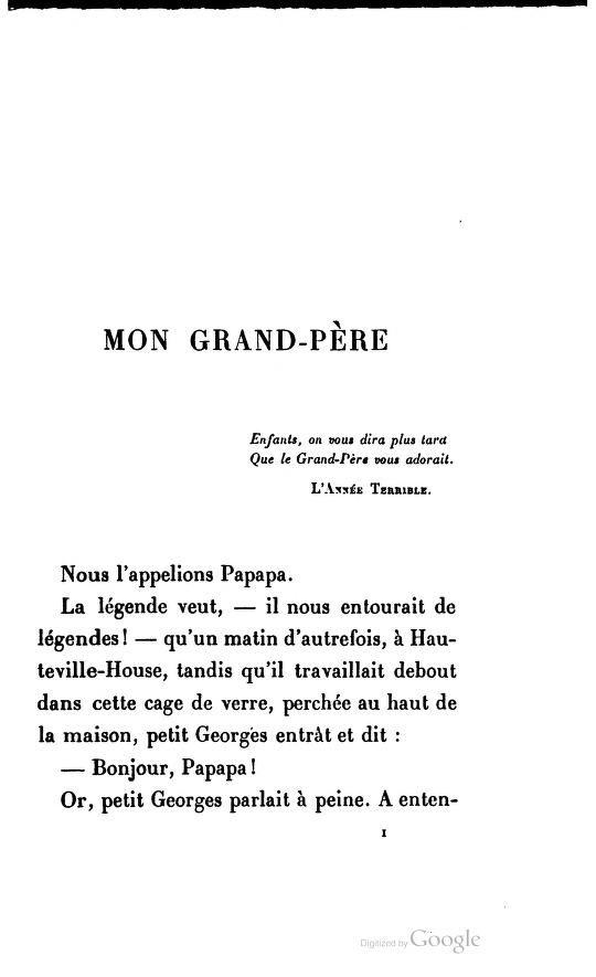 Mon grand-père de Georges Victor Hugo   H comme Hugo   Pinterest 21f758c9eb9
