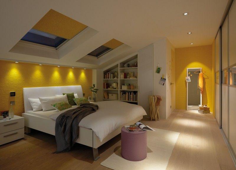 Schlafzimmerbeleuchtung Mit Ein Und Aufbaustrahlern