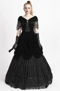 viktorianisches ballkleid aus samt und spitze viktorianisch ballkleid und kleidung frauen. Black Bedroom Furniture Sets. Home Design Ideas