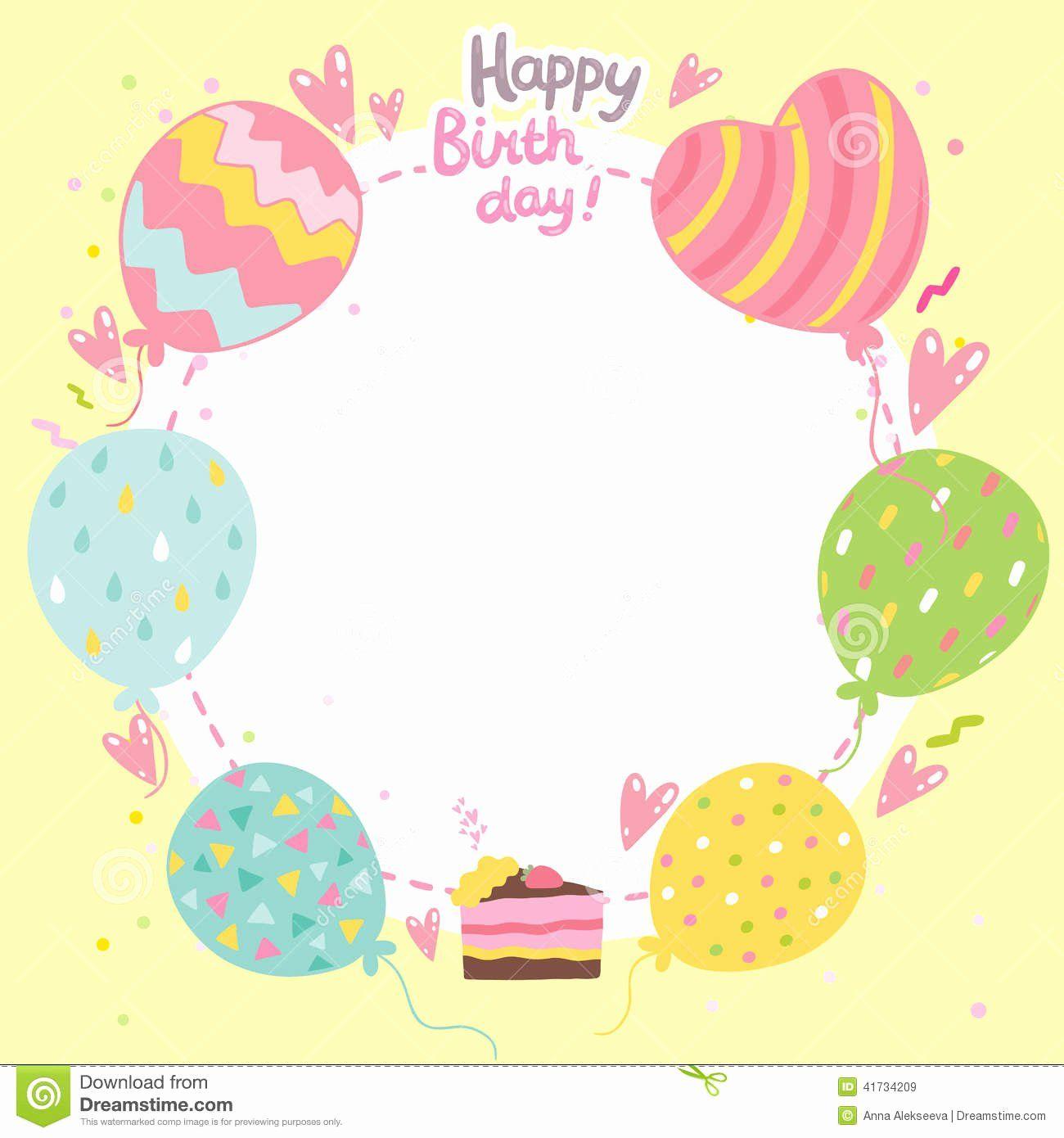 Free Birthday Card Templates New Birthday Card Template Free Birthday Card Happy Birthday Template Birthday Card Printable