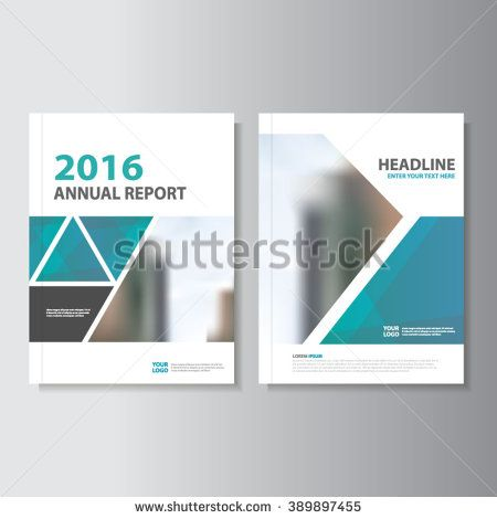 Triangle Blue Vector Annual Report Leaflet Brochure Flyer Template