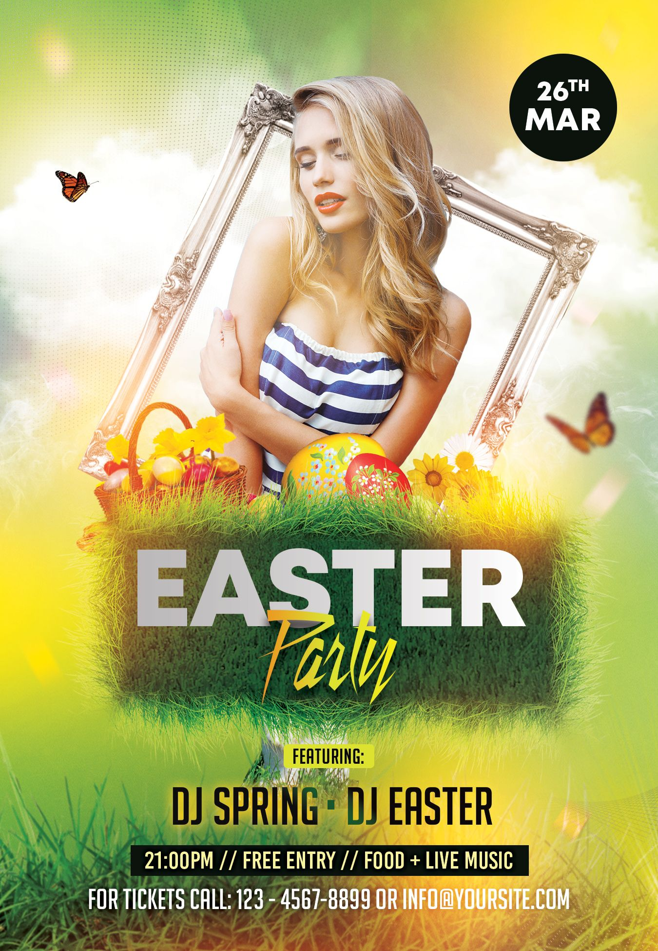 Spring Easter Event Psd Free Flyer Template Free Psd Flyer