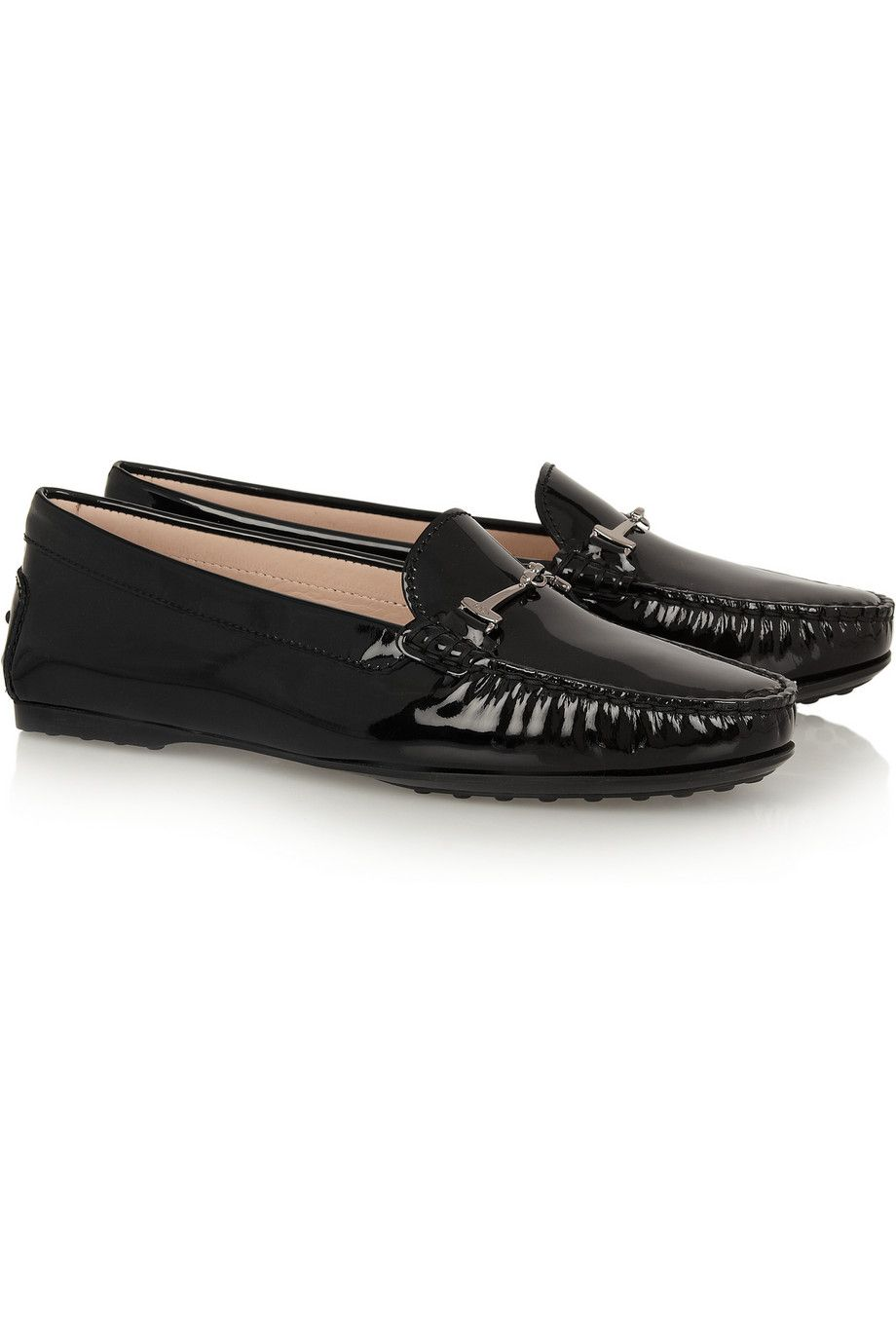 bdafeb2e4e Tod's City Gommino Embellished Patent Leather Loafers | My Style ...