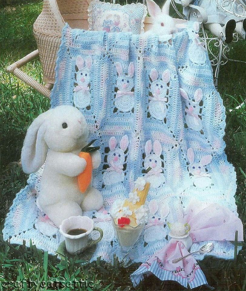 colcha conejito   crochet   Pinterest   Conejo