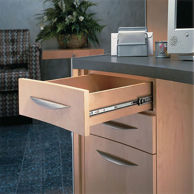 The Accuride 3732 Series Offers A Side Mounted Slide With A 38mm Low Profile Mounting Height Ideal Fo Drawer Slides Wood Drawer Slides Side Mount Drawer Slides