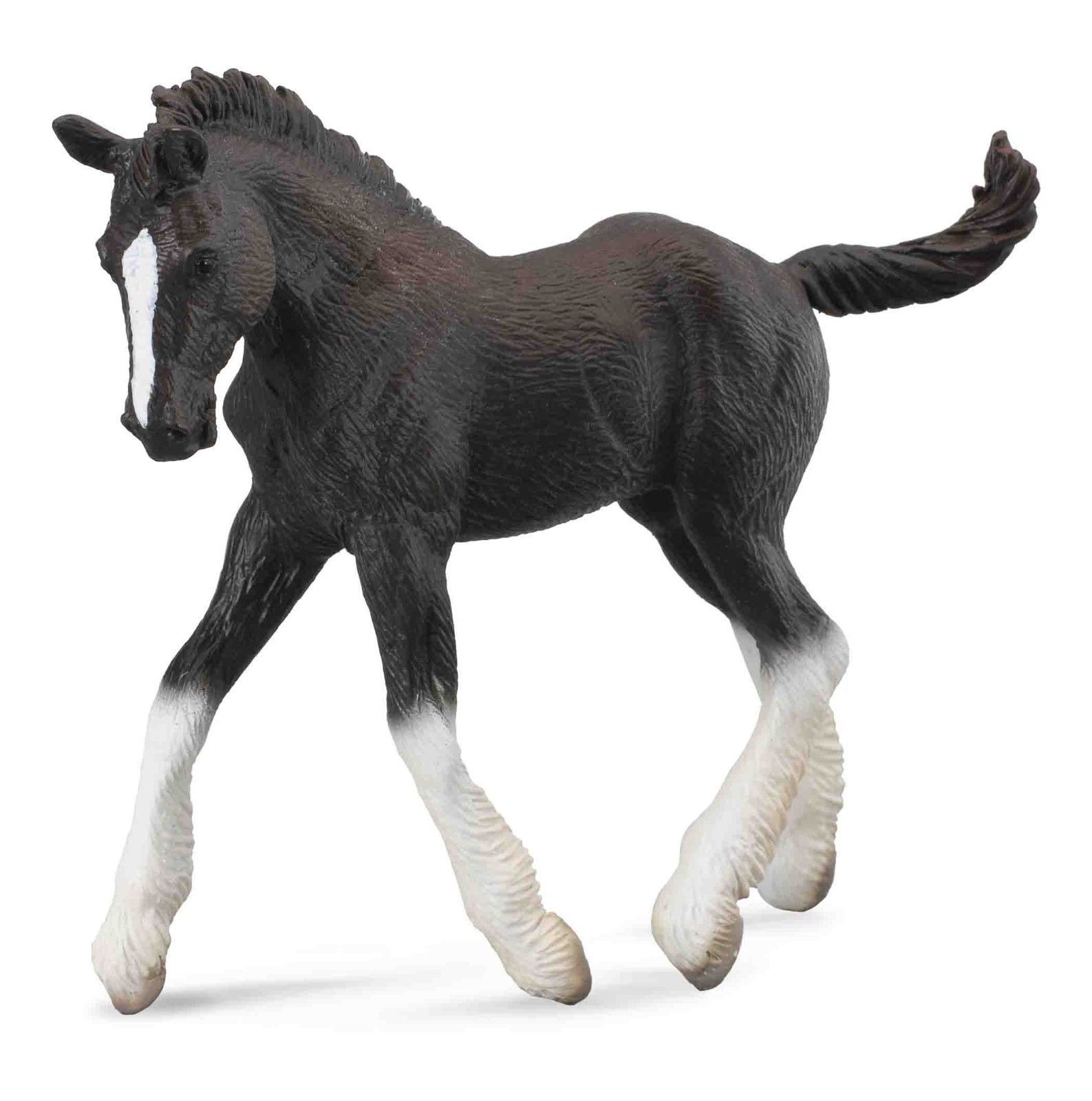 Collecta Black Shire Horse Foal Toy Model Figure 88583 New With Tag 11 29 Shire Horse Horses Foals [ 1600 x 1587 Pixel ]