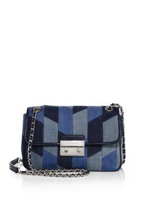 589c88328799 Sloan Large Patchwork Denim Shoulder Bag