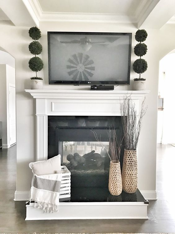 Photo of Real Life Rooms: Decorating Ideas for a TV above a Fireplace