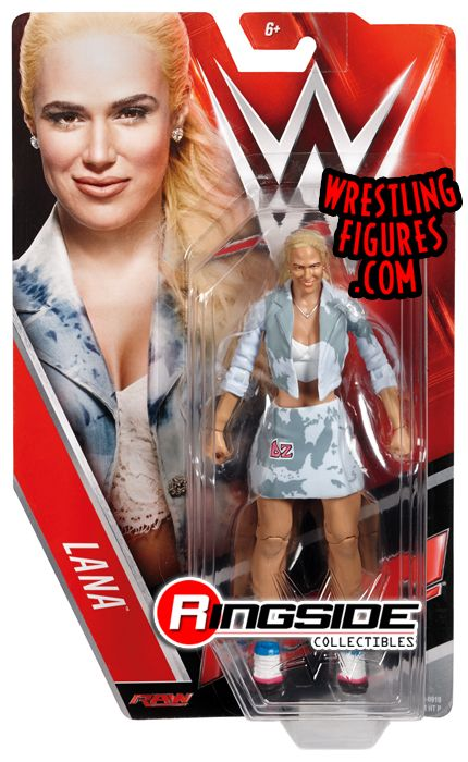 WWE MATTEL BASIC SERIES 58 LANA DIVA WRESTLING FIGURE