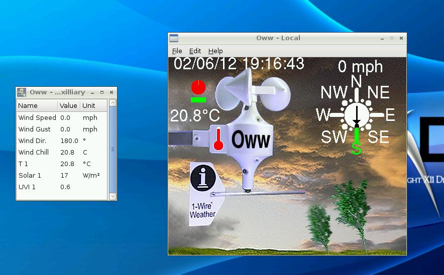 Oww running on Raspberry Pi under LXDE | Wx Station | Raspberry
