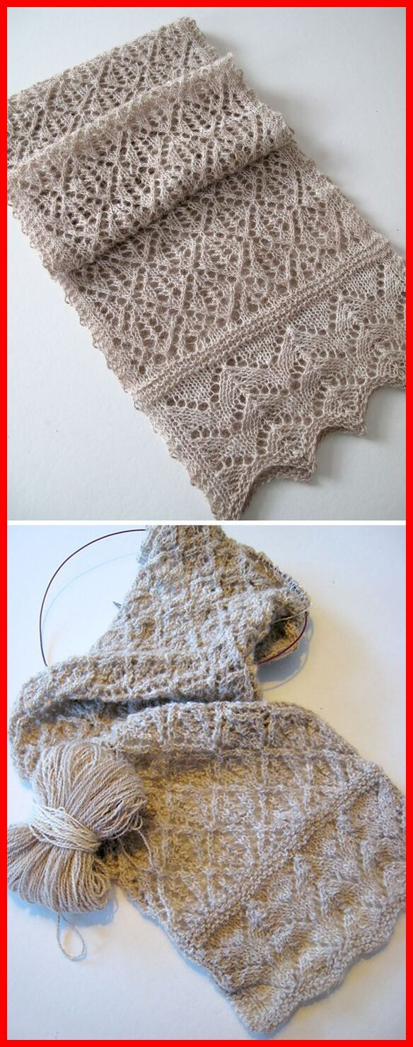 Photo of Kernel – Free Lace Scarf Pattern