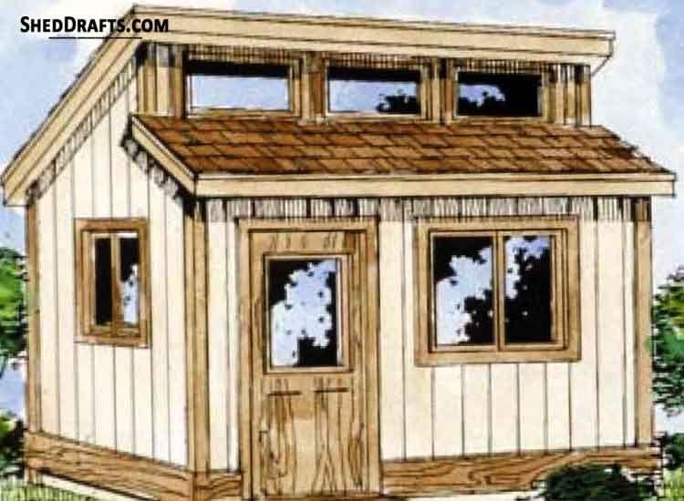 8x8 Clerestory Potting Shed Plans Blueprints 00 Draft Design In 2020 Diy Shed Plans Cool Sheds Backyard Sheds