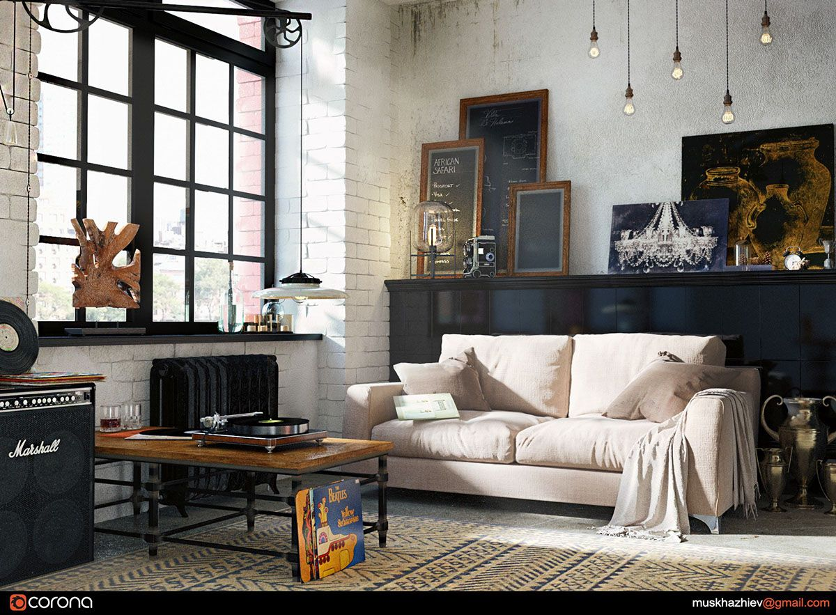 stylish exposed brick wall lofts | wall decals | pinterest | lofts