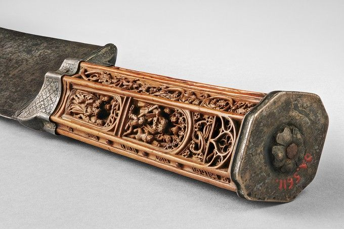 Knife Flemish Early 16th Century Wood Steel Silver With