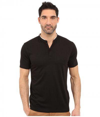 7 Diamonds - Carnegie Top (Black) Men's Short Sleeve Pullover