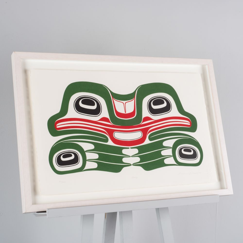 """Frog"" print by Carrier artist Larry (Lawrence) Rosso"