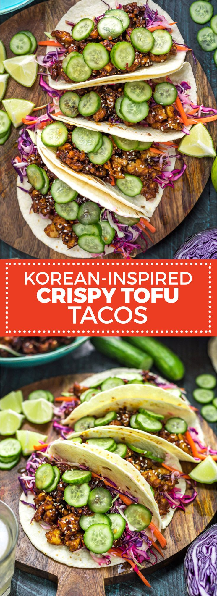 Korean-Inspired Crispy Tofu Tacos - Host The Toast