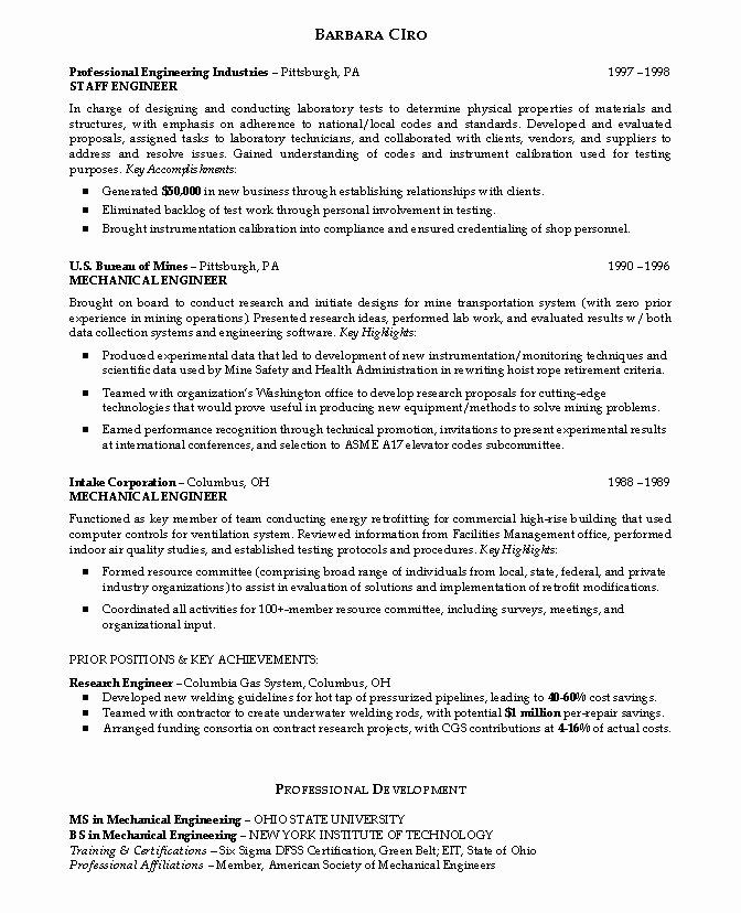 Mechanical Engineering Resume Objectives Beautiful Engineering Resume Objectives Samples