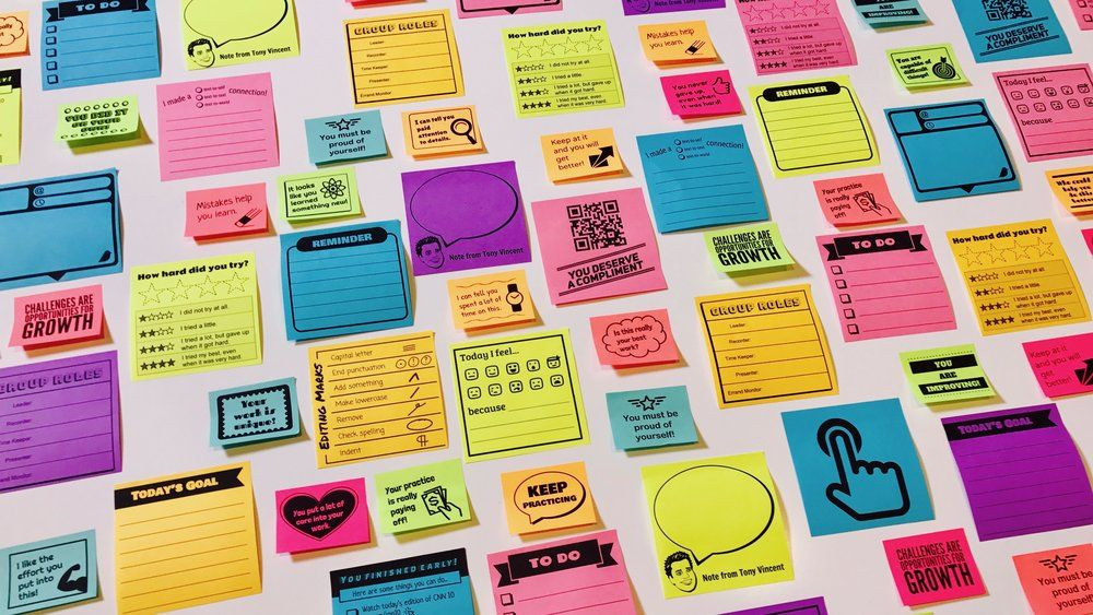 Print Custom Sticky Notes With Google Slides  Note Template And