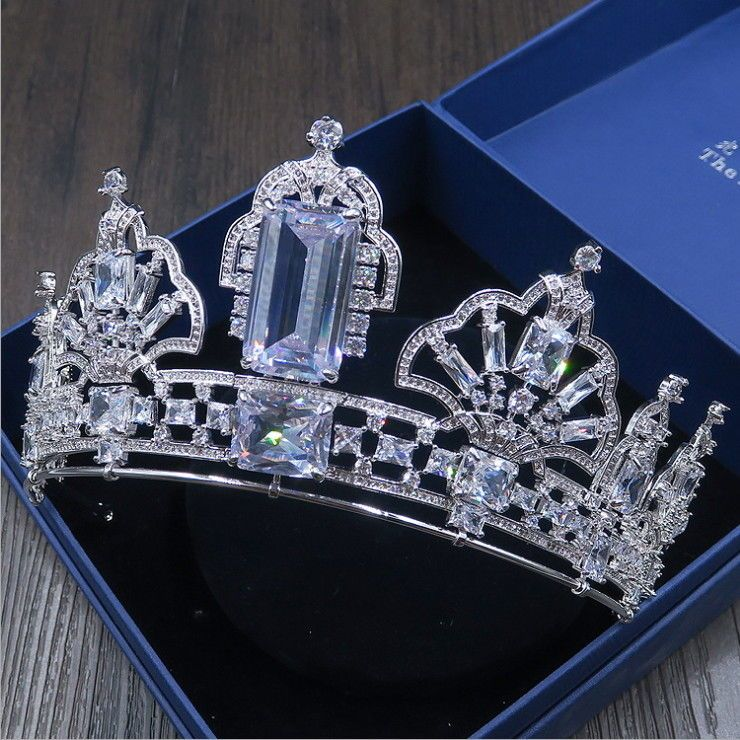 Luxury CZ Cubic Zirconia Adult Wedding Bridal Party Pageant Prom Tiara Crown