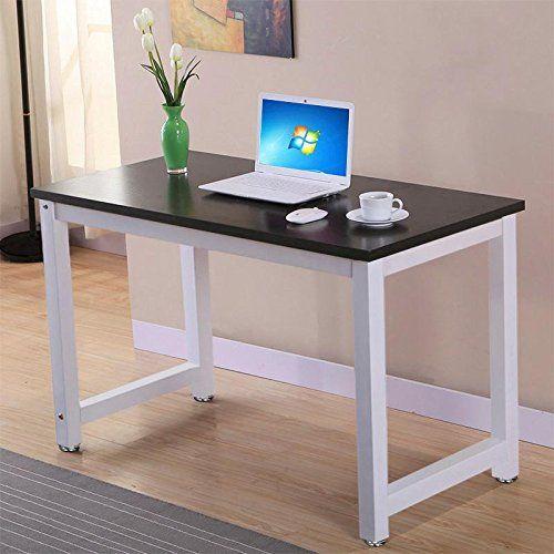 computer tables for home office. Popamazing® Simple Computer Desk Wood Desktop Workstation Steel Frame Table Home Office Furniture (Black Tables For