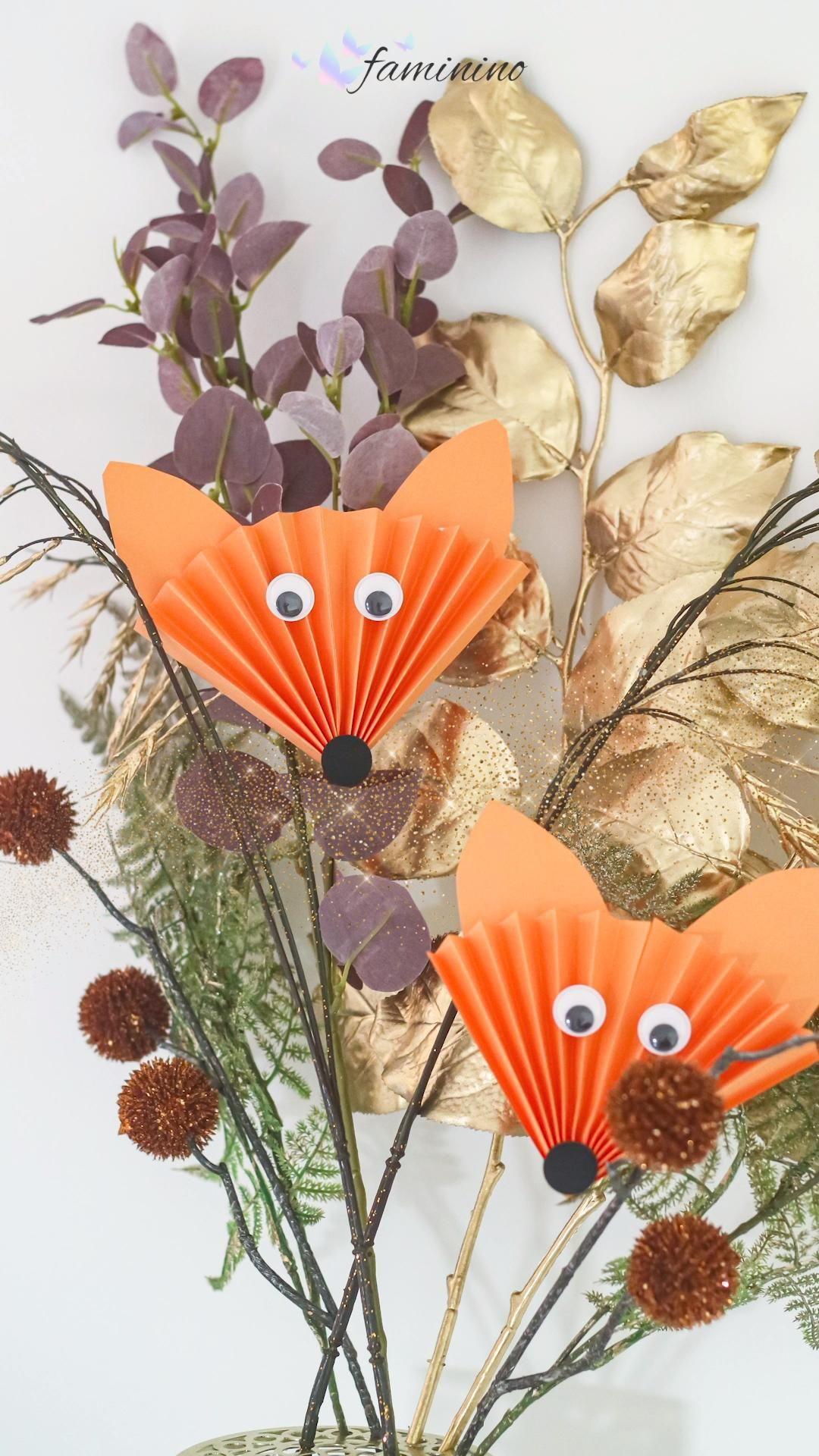 Der Falte-Fuchs – tolle Herbst-Bastel-Idee für kleine Kinder