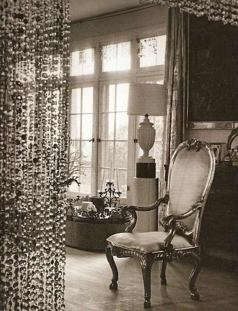 Possible Room Divider made of rock crystal, minerals geodes. Even as stationary string curtains for dressing room.