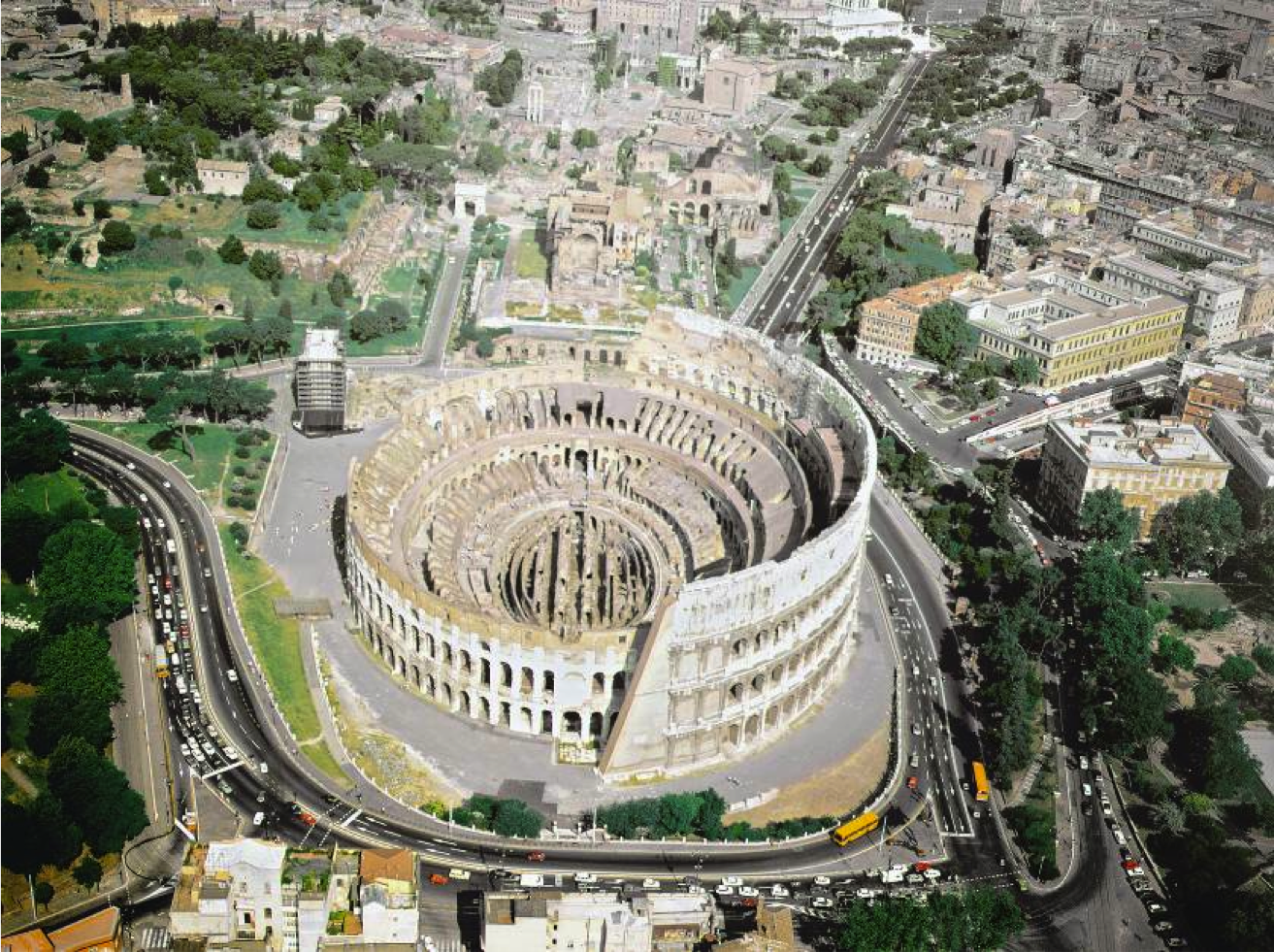 Colosseum (Flavian Amphitheater). Rome, Italy. Imperial ...