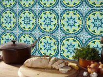 Stickers Voor Tegels : Muur kunst tegels sticker antique blauw stickers in