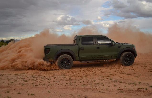 Military Matte Green Wrap Green Wrap Ford Raptor Ford Ranger