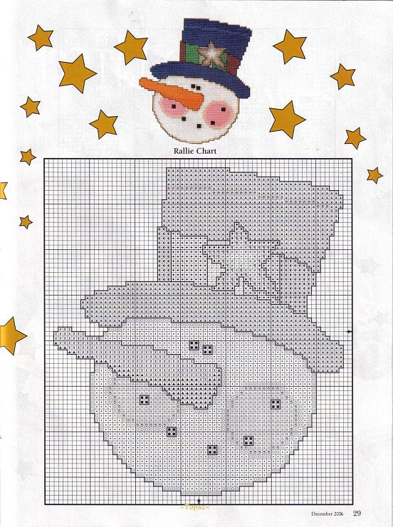Winter Fun Snowmen Ornaments, plastic Canvas, page 6/6 | Christmas ...