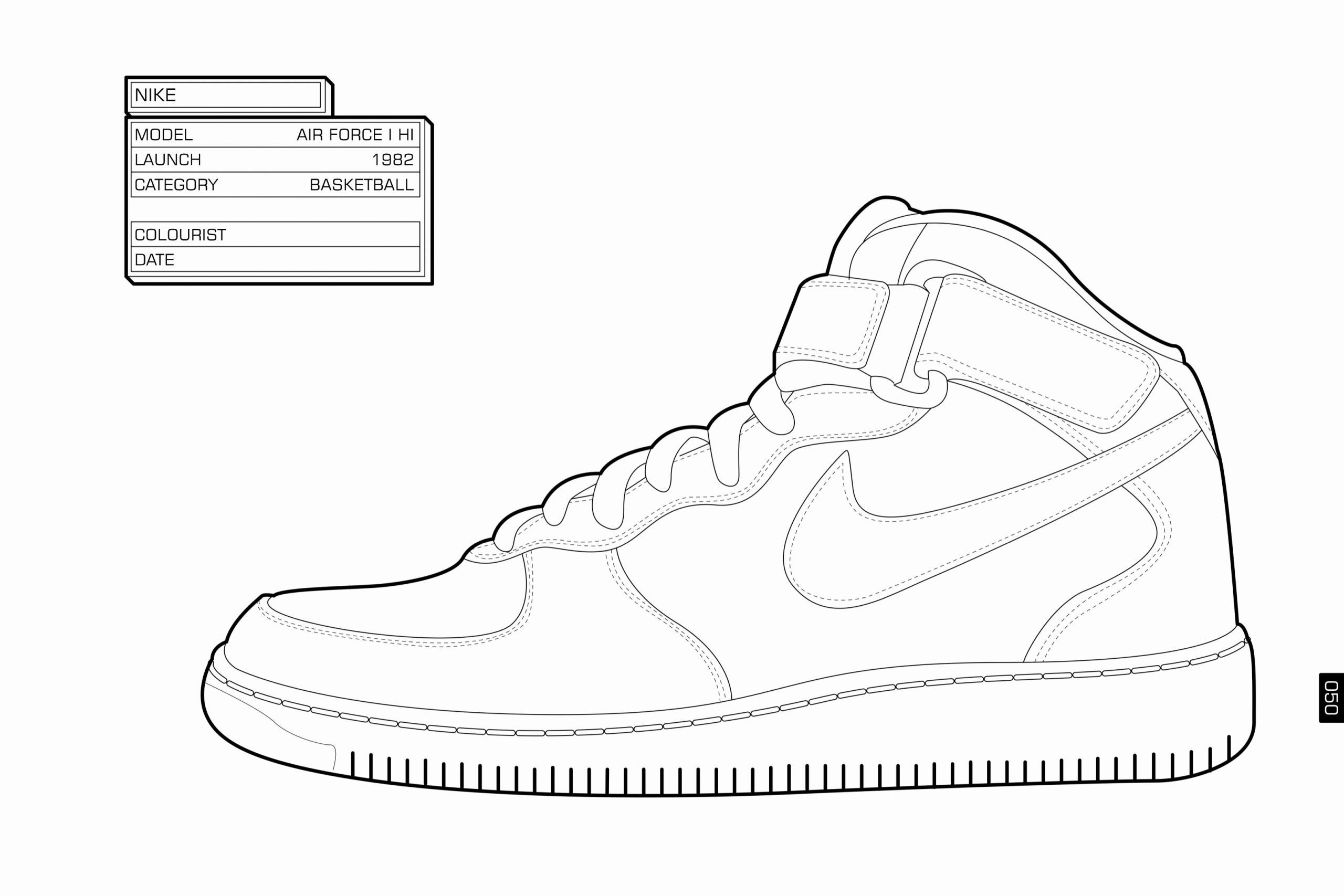 Jordan Shoe Coloring Book Luxury Nike Coloring Pages Coloring Home Shoes Drawing Cool Nike Shoes Pictures Of Jordans