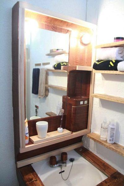 賃貸diyブログ 洗面台を木目調にしたり玄関の壁に漆喰を塗ってタオル