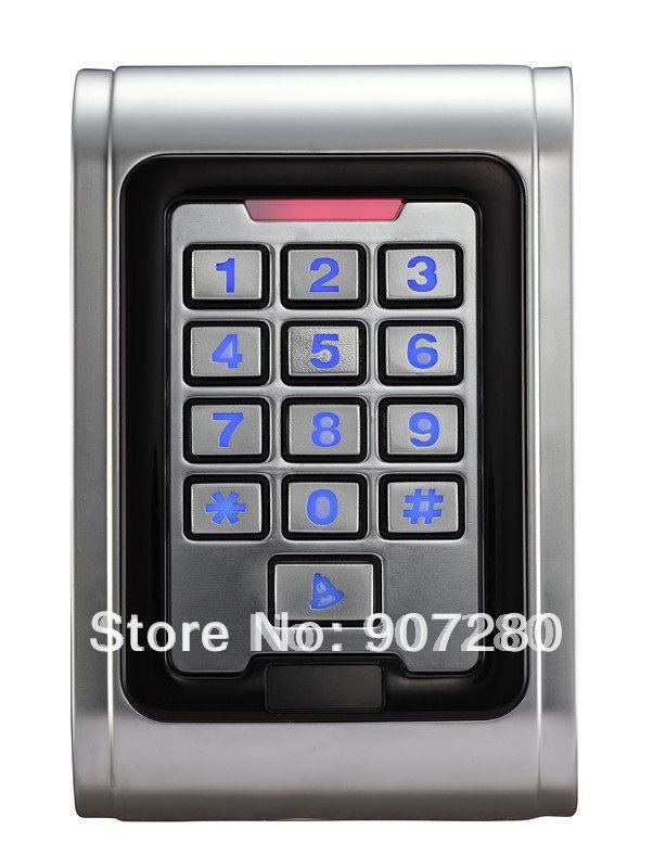 65.00$  Buy here - http://ali3q2.worldwells.pw/go.php?t=540324306 - Wholesale 13.56MHz RFID (IC) Waterproof Metal Case Digital Access Control Keypad 65.00$