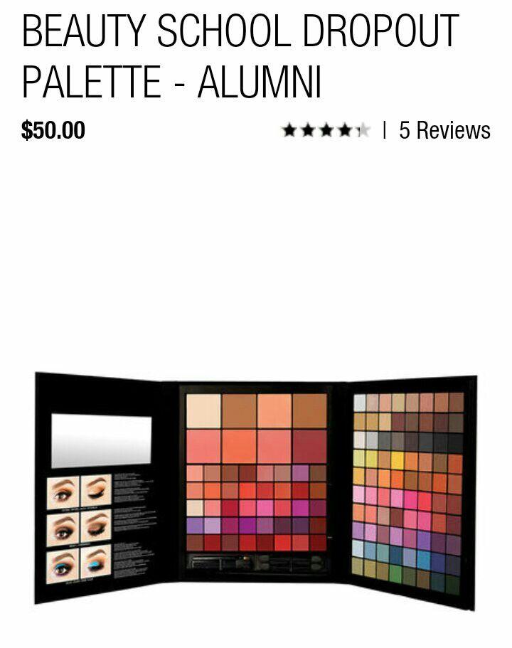 Nyx Beauty School Dropout Palette Alumni Chaos Pinterest Nyx