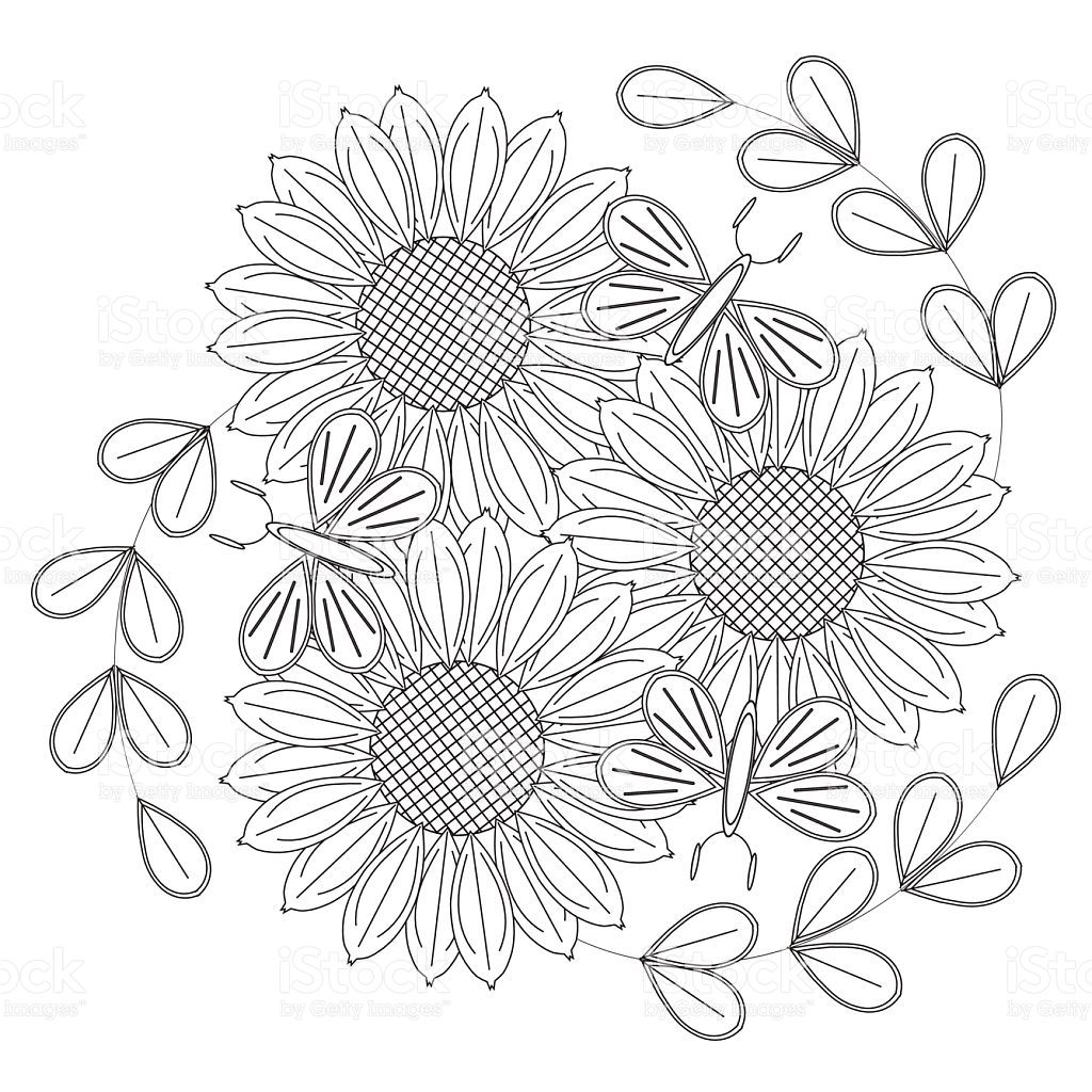 Image result for sunflowers coloring pages