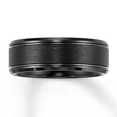 Men S Band Black Tungsten Carbide 8mm Mens Wedding Bands Black Mens Wedding Bands Tungsten Carbide Black Wedding Band