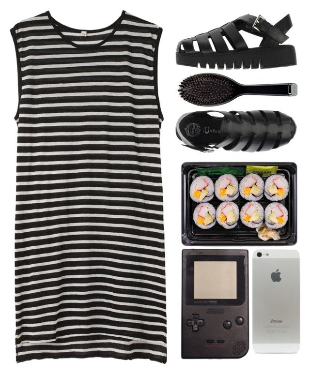"""✨✨"" by noemyynoemyy ❤ liked on Polyvore featuring R13, Jeffrey Campbell and GHD"
