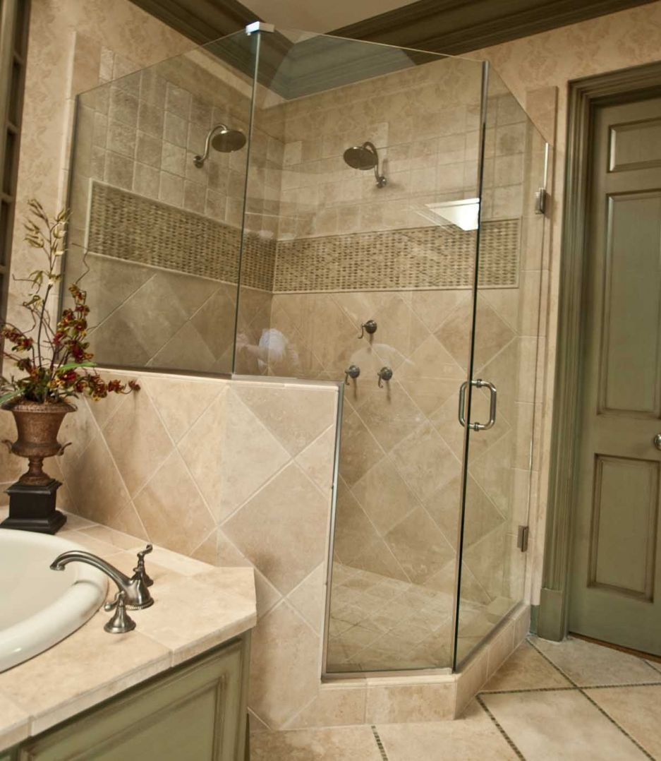 Bathroom, Great Concepts To Take: Suitable Cost Of Bathroom Remodel: Inspiring Small Bathroom Remodel Having Beige Tile Of The Shower Area A...