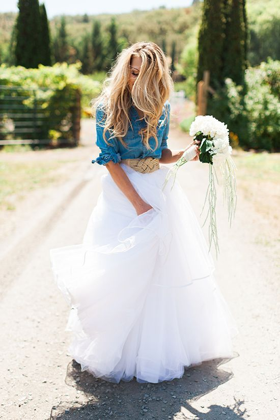Lace and Denim Wedding Dresses