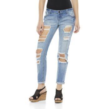Mudd+Destructed+Skinny+Jeans+-+Juniors