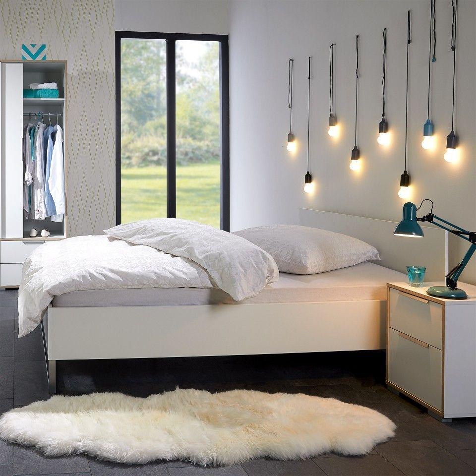 Bett Style (140x200, weiß) in 2020 Bett, Zimmer